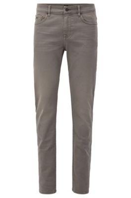 Slim-Fit Jeans aus komfortablem Stretch-Denim, Dunkelgrau