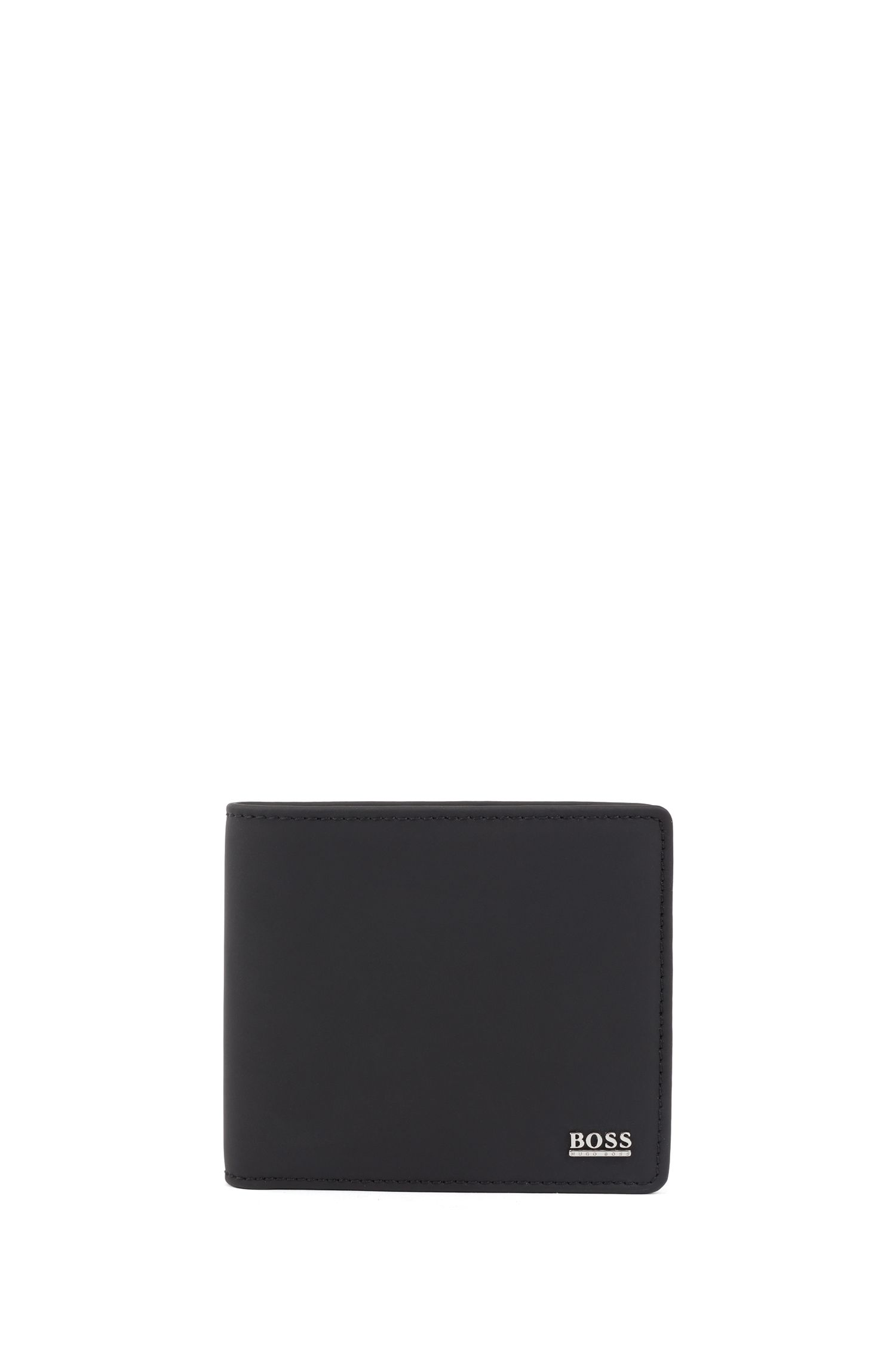 Signature Collection billfold wallet in smooth Italian leather, Black