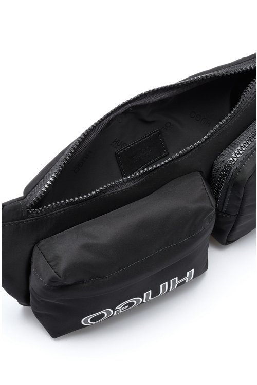 Hugo Boss - Adjustable belt bag in nylon garbardine with reversed logo - 5