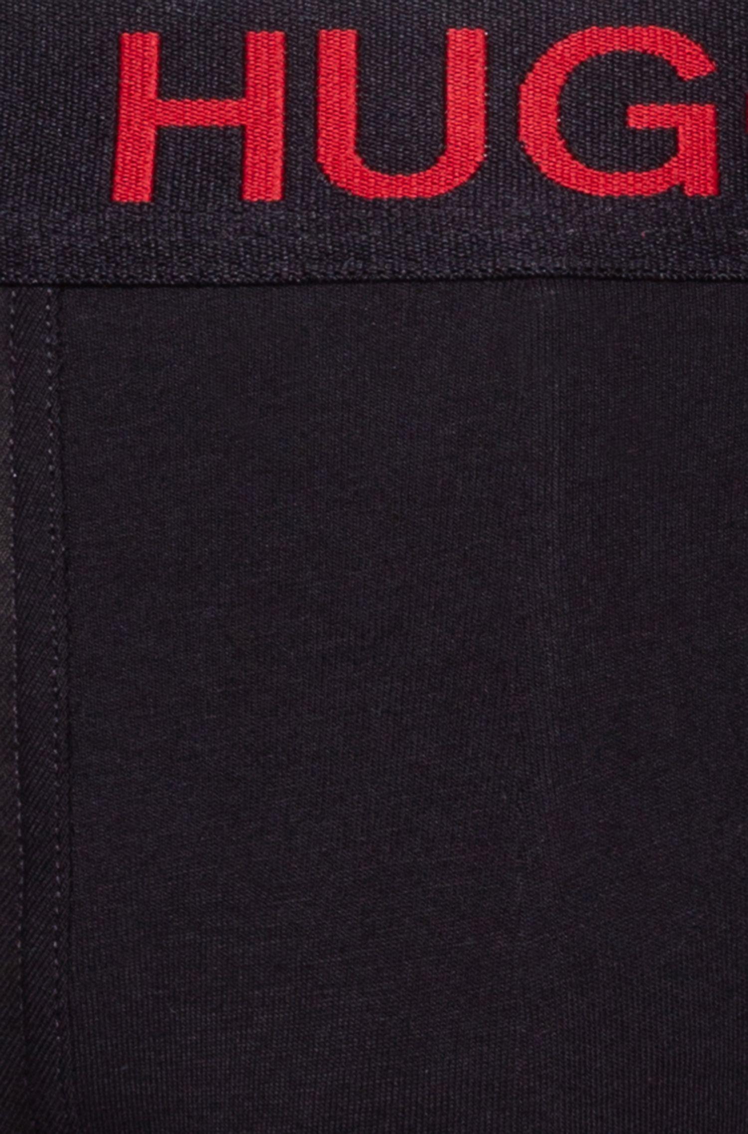 Stretch-cotton trunks with seasonal artwork, Negro