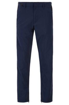 Pantalon Tapered Fit en tissu bi-stretch idéal pour voyager, Bleu foncé