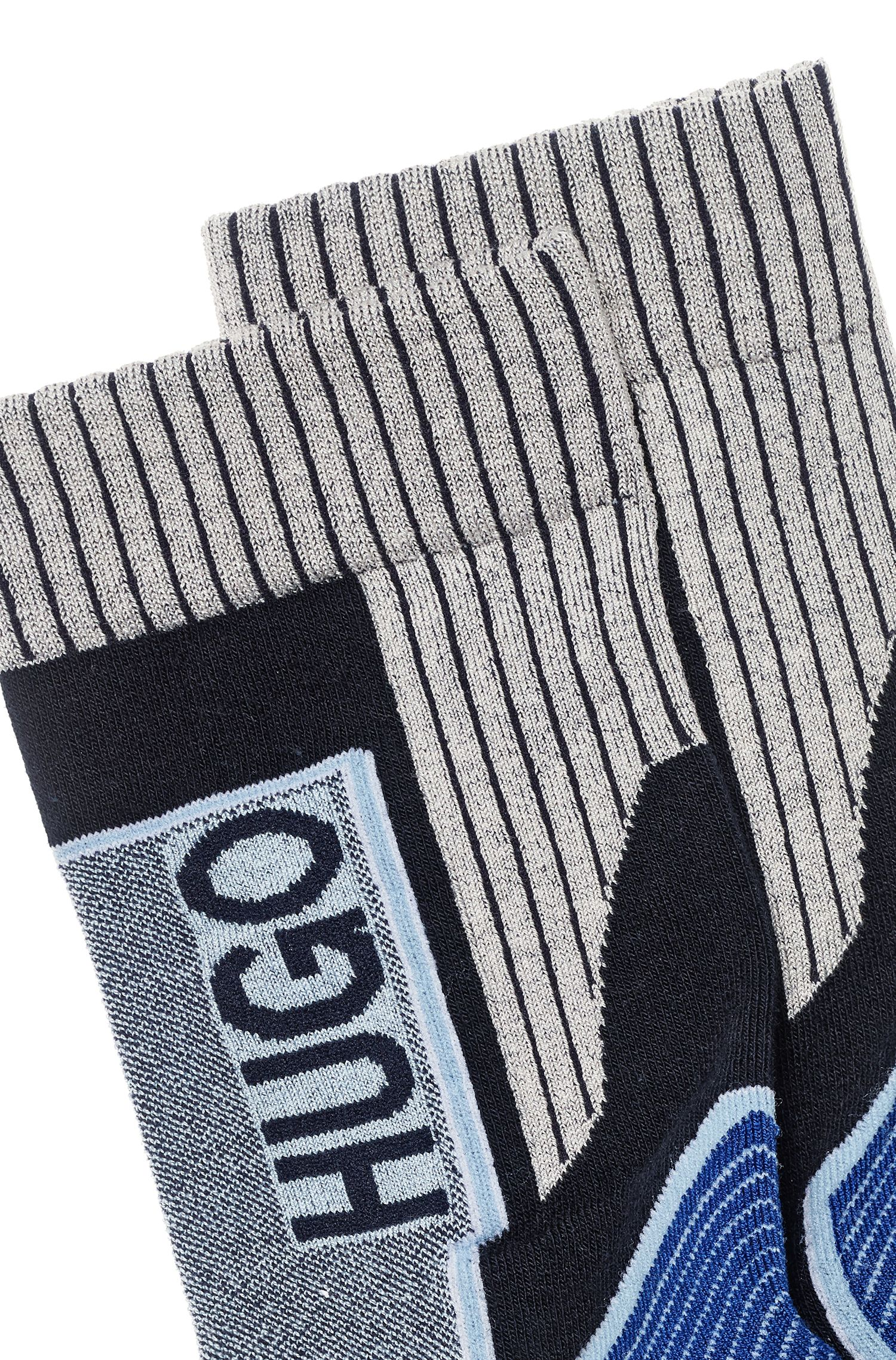 Fashion Show Socken aus elastischem Baumwoll-Mix mit Logo, Gemustert