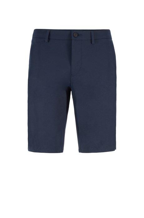 Short Slim Fit avec empiècements à imprimé saisonnier, Bleu foncé