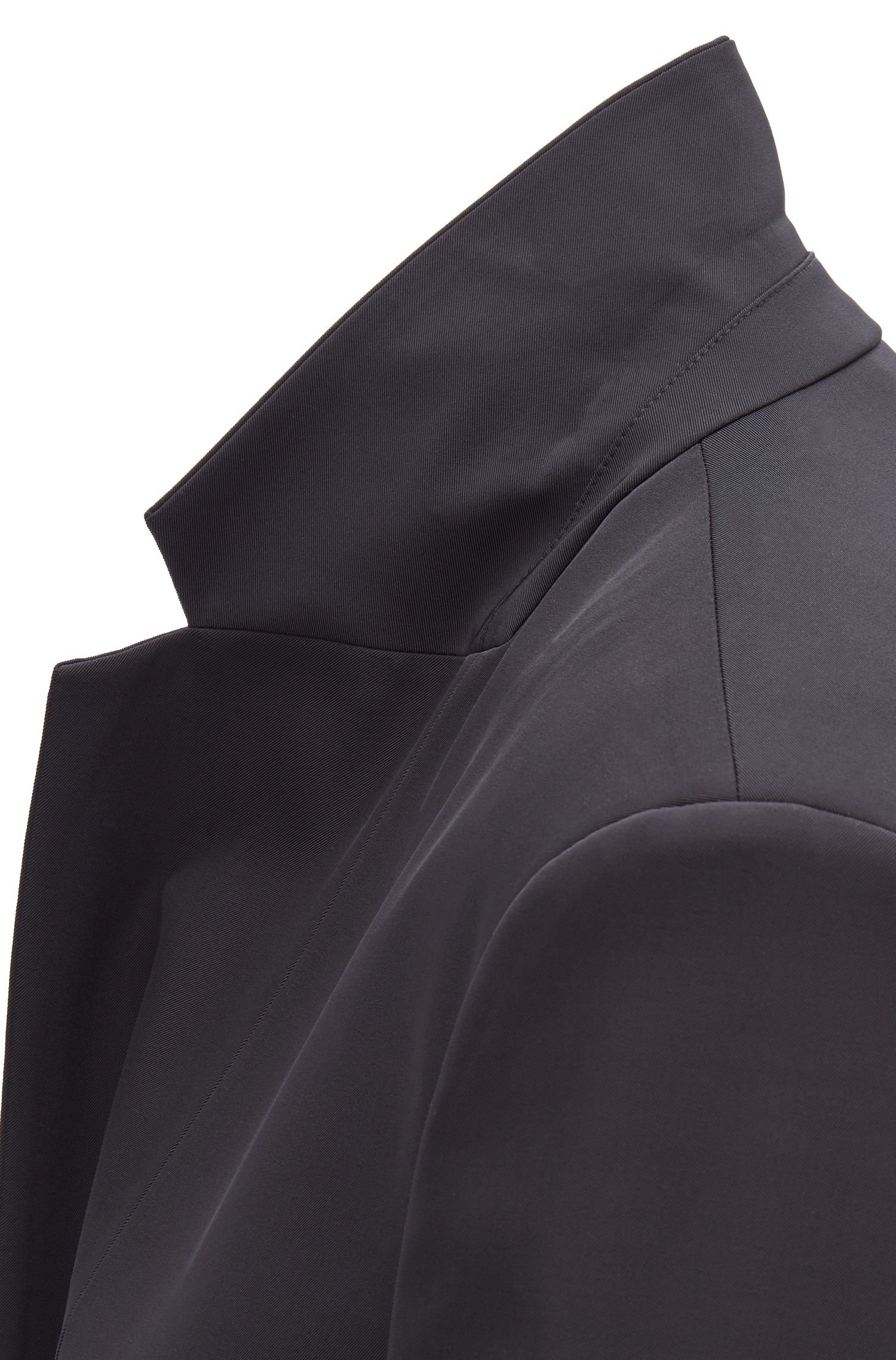 Fashion Show relaxed-fit jacket in Italian stretch fabric, Dark Blue