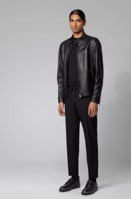 18417ba2e Regular-fit blouson jacket in nappa leather