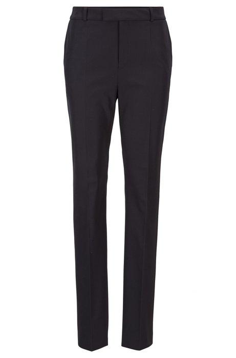 Pantalon Relaxed Fit en twill stretch italien, issu de la collection Fashion Show, Bleu foncé