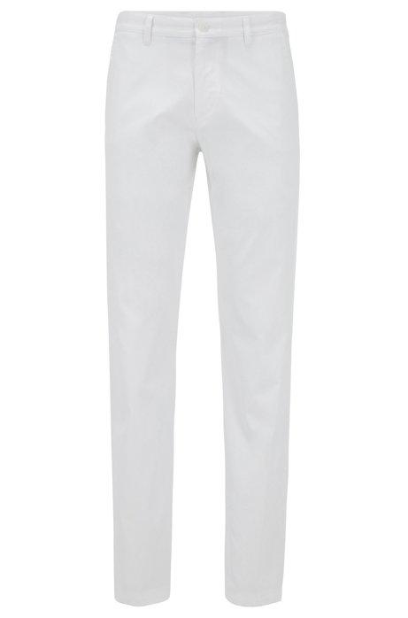 Pantalon Slim Fit en tissu aux propriétés d'évacuation de l'humidité, Blanc
