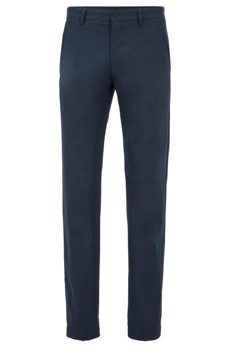 Pantalon Slim Fit en tissu aux propriétés d'évacuation de l'humidité, Bleu foncé