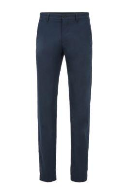 Pantaloni slim fit in tessuto traspirante, Blu scuro