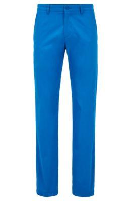 Slim-Fit Hose aus feuchtigkeitsableitendem Gewebe, Blau
