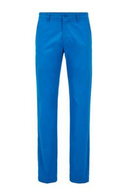Pantaloni slim fit in tessuto traspirante, Blu