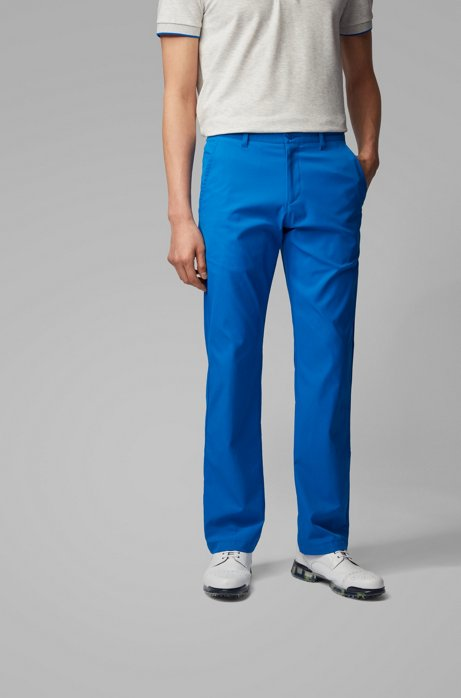 Pantalones slim fit en tejido transpirable, Azul