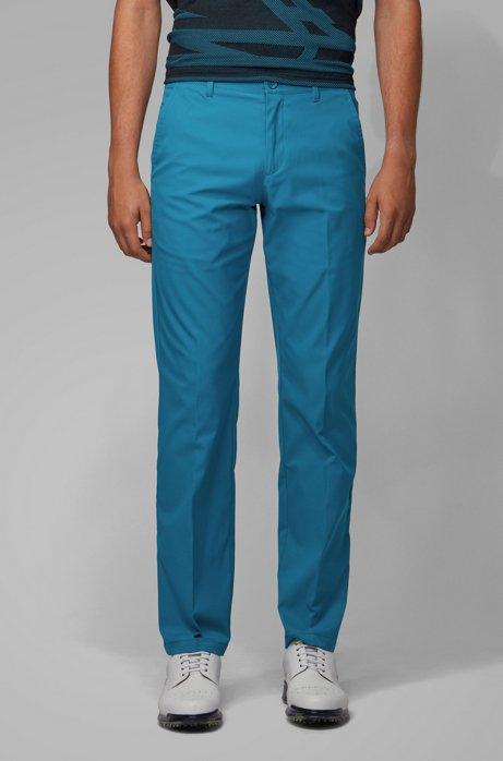 Slim-fit broek van vochtafdrijvend materiaal, Blauw