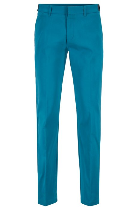 Extra-slim-fit trousers in moisture-wicking technical fabric, Blue