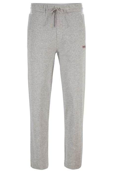 Regular-fit jogging trousers with contrast panel, Light Grey
