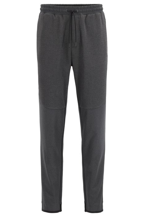 Slim-fit jogging trousers in stretch fabric with S.Café®, Black