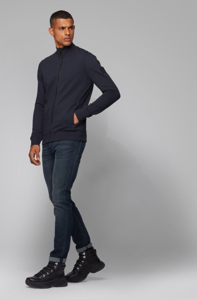 Relaxed-fit jacket in cotton with rubber trimmings