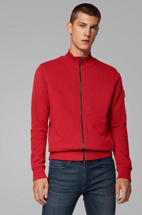 Relaxed-Fit Jacke aus Baumwolle mit Gummibesatz, Rot