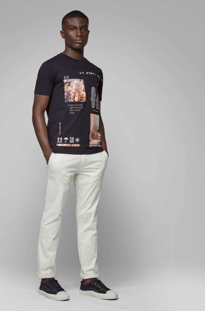 T-Shirt aus recot²®-Baumwolle mit Rundhalsausschnitt und Print aus der Kollektion