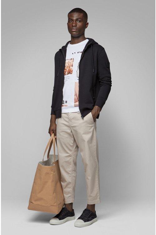 Hugo Boss - T-shirt à col rond en coton recot²® à imprimé emblématique de la collection - 2