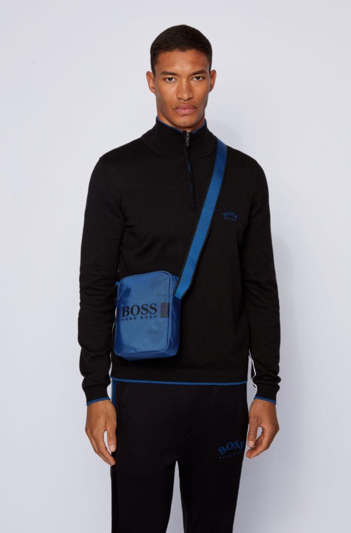 Reporter-Tasche aus strukturiertem Nylon mit Logo-Print