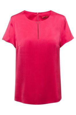 Top met split aan de voorkant, van stretchzijde met hardwaredetail, Pink