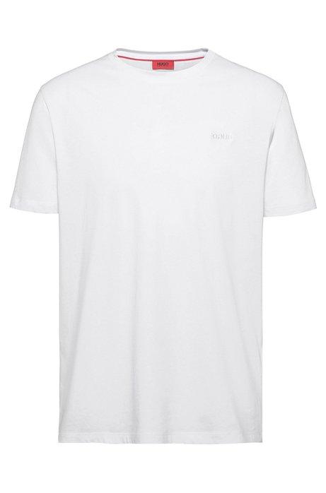 T-Shirt aus Single Jersey mit spiegelverkehrtem Logo, Weiß