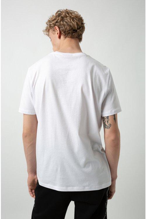 Hugo Boss - Camiseta con logo invertido en punto sencillo de algodón - 4