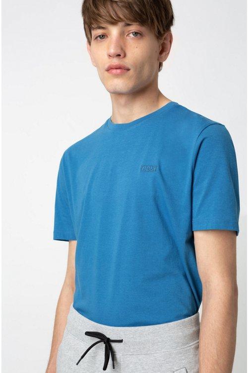 Hugo Boss - Camiseta con logo invertido en punto sencillo de algodón - 2