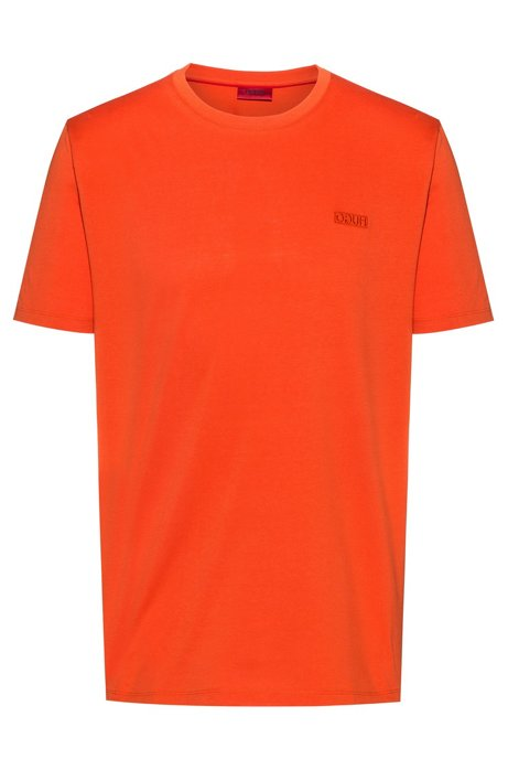 T-shirt à logo inversé en jersey simple de coton, Orange