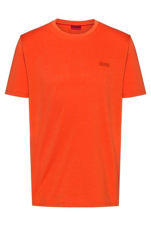 Hugo Boss - Camiseta con logo invertido en punto sencillo de algodón - 1