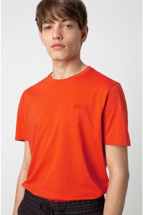 Hugo Boss - Camiseta con logo invertido en punto sencillo de algodón - 3
