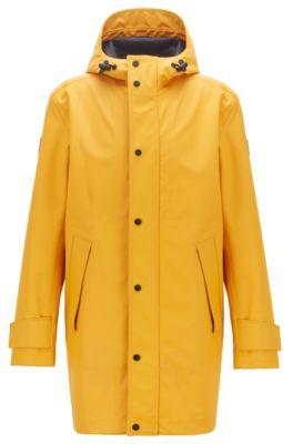 Wasserfeste Regenjacke aus laminiertem Stretch-Gewebe, Gelb