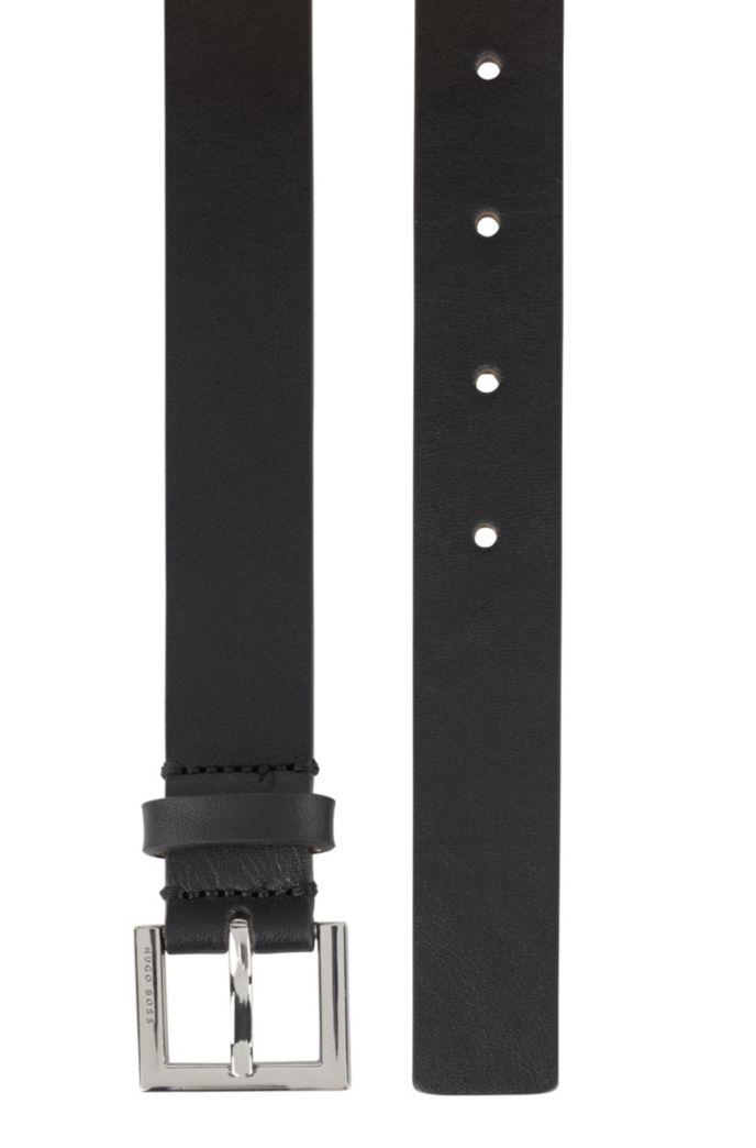 Cintura in nappa realizzata in Italia con fibbia lucida