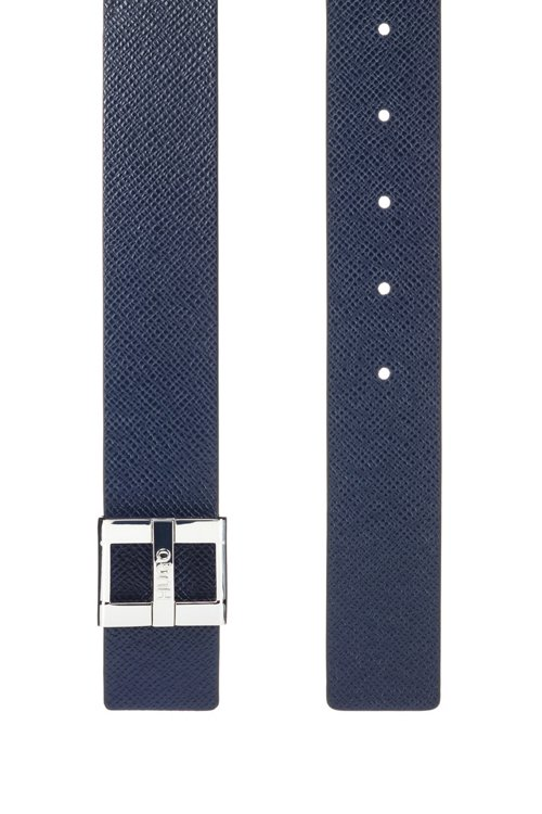 Hugo Boss - Italian-made belt in printed leather with signature buckle - 2