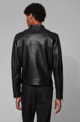 premium selection ae9c6 f245a Blouson aus Leder mit vertikalen Brusttaschen