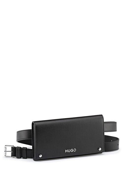 Hugo Boss - Riñonera de piel sintética con piezas metálicas plateadas pulidas - 4