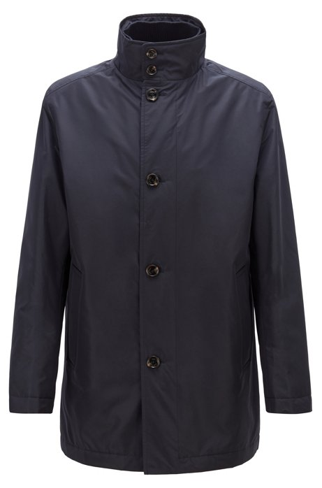 Water-repellent car coat with quilted lining, Dark Blue