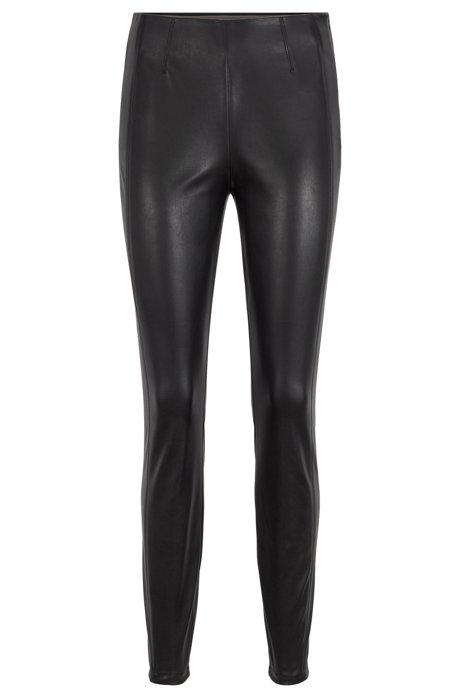 Skinny-fit legging met verlegde zijnaden, Zwart