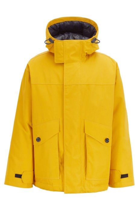 Relaxed-fit down jacket in water-repellent fabric, Yellow