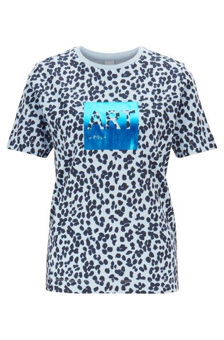 T-shirt en coton Supima à imprimé léopard, avec motif arty imprimé en transfert, Fantaisie