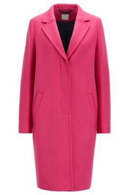 Manteau en tissu lourd, en laine mélangée à teneur en cachemire, Rose