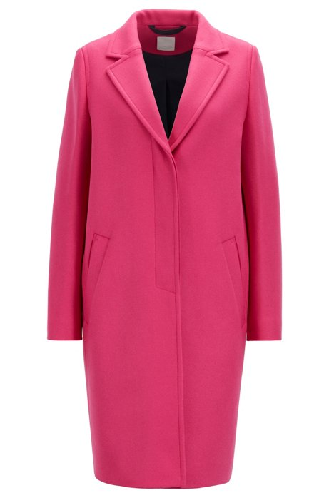 Heavyweight coat in a wool blend with cashmere, Pink