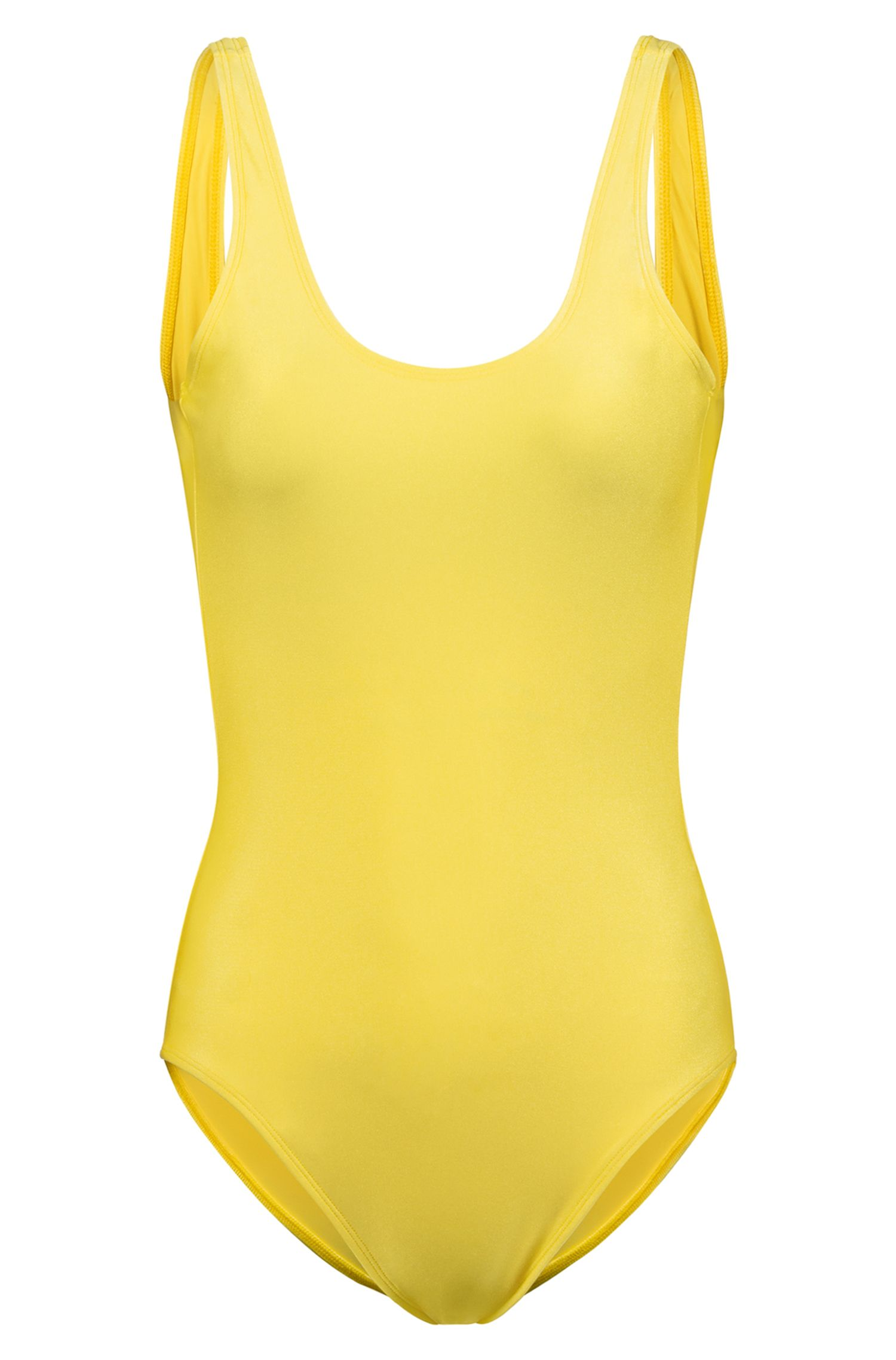 Fashion Show swimsuit with low back, Yellow