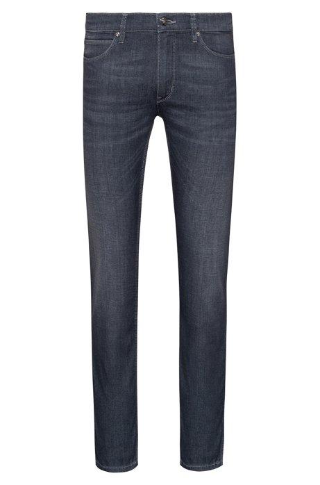 Skinny-fit jeans van grijs stretchdenim, Antraciet