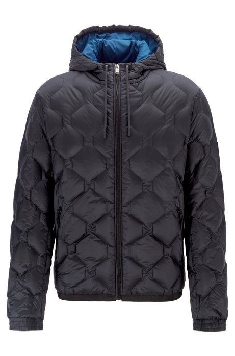 Water-repellent down jacket in ripstop fabric, Dark Blue