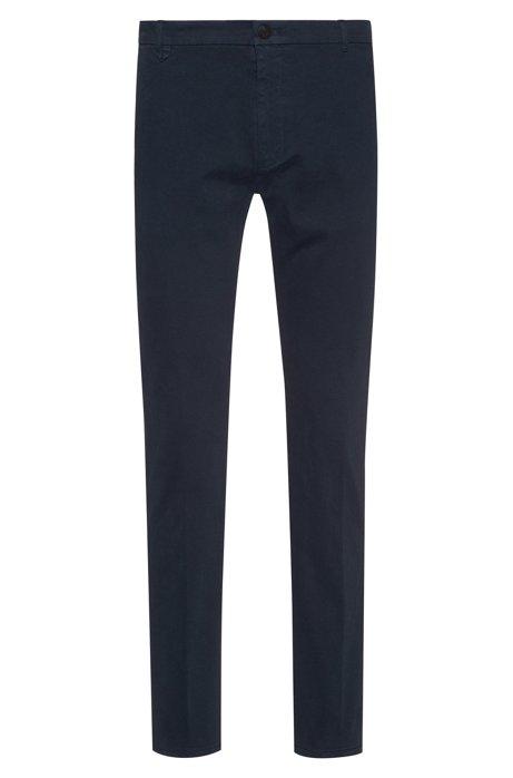 Pantaloni extra slim fit in cotone elasticizzato, Blu scuro