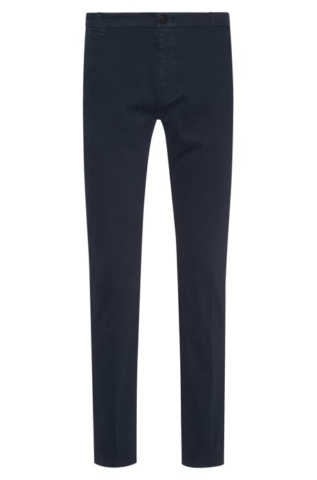 Extra Slim-Fit Hose aus Stretch-Baumwolle, Dunkelblau