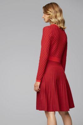 hugo boss knitted dress