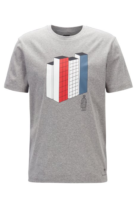 Limited Edition Konstantin Grcic T-shirt with city artwork, Grey